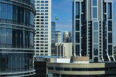 Fa?ade de la construction moderne Ville de Sao Paulo, Br?sil photographie stock