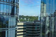 Fa?ade de la construction moderne Ville de Sao Paulo, Br?sil image stock