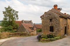 Fa?ade du b?timent dans la Chateauneuf-en-Auxois m?di?vale historique de village photographie stock