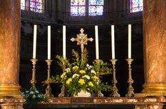Fa arrabbiare il particolare dell'altare della cattedrale Immagine Stock Libera da Diritti