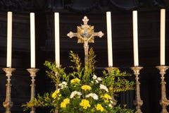 Fa arrabbiare il particolare dell'altare della cattedrale Fotografia Stock Libera da Diritti