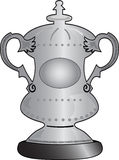 FA cup. Illustration of a sporting silver cup vector illustration