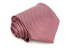 Fałdowy czerwony krawat Zdjęcie Stock