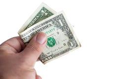 Fałdowy dolar Obrazy Royalty Free