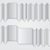 Fałdowy harmonijka papier z miejscem dla twój teksta ilustracja wektor