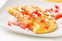 fałdowy omelette Obraz Royalty Free
