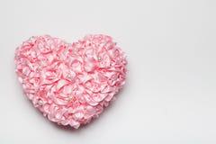 Fałdowy Tasiemkowy serce Fotografia Stock