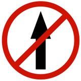 Fa non il bordo diritto del segno Fotografia Stock