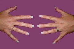 fałszywe palców paznokcie Obrazy Royalty Free
