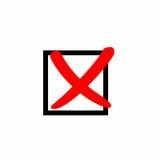 Fałszywy czek oceny wektorowy projekt Obrazy Stock