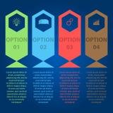 Fa un passo il modello infographic Fotografia Stock