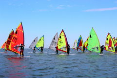 Fa windsurf, la classe del windsurfer Fotografia Stock