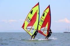 Fa windsurf, la classe del windsurfer Fotografia Stock Libera da Diritti