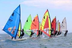 Fa windsurf, la classe del windsurfer Immagini Stock Libere da Diritti