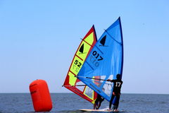 Fa windsurf, la classe del windsurfer Immagini Stock