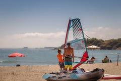 Fa windsurf la lezione Fotografia Stock Libera da Diritti