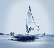 Fa windsurf la vela Immagini Stock