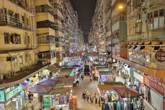 Fa Yuen street market in Mong kok district Royalty Free Stock Photography