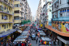 Fa Yuen Street at Mong kok, Kowloon, Hong Kong Royalty Free Stock Photography