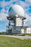 FAA Air Traffic Control Radar. Bedford County, VA – September 26th: View of the FAA Traffic Control Radar at the summit of Apple Orchard Mountain located royalty free stock image