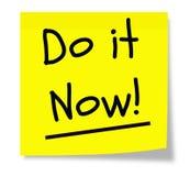 Faça-o agora almofada pegajosa Imagem de Stock Royalty Free