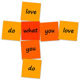 Faça o que você ama Foto de Stock Royalty Free