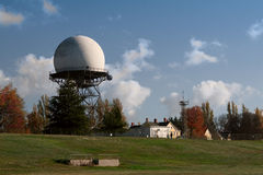 FAA Radar Dome at Army Base. An FAA radar dome, built in 1959, at Fort Lawton, a closed United States Army base in Discovery Park, Seattle, Washington stock photo
