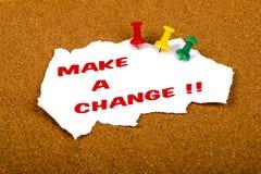 Faça uma mudança Fotografia de Stock