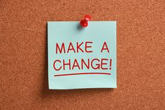 Faça uma mudança! Imagens de Stock Royalty Free