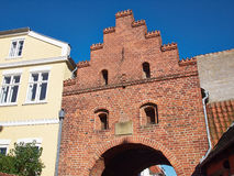 Faaborg on Funen in Denmark. Faaborg famous old city gate on Funen in Denmark Stock Images