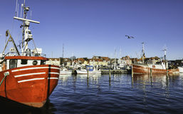 Faaborg harbour in Denmark Stock Photography