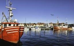 Faaborg harbour in Denmark. Faaborg harbour on Funen in Denmark Stock Photography