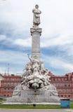 Façade Argentine de dos de Rosada de maison Photographie stock libre de droits