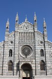 Façade de cathédrale de Monza, Italie Image libre de droits