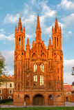 Façade de l'église de St Anne à la lumière de crépuscule dedans Photographie stock