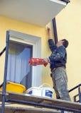 Façade de maison de peinture Photos stock
