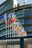 Façade du Parlement européen avec tout le pays de l'Union Européenne la Floride d'E. - Photo libre de droits