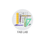 Fab Lab Modern Technology Device Icon Stock Photos