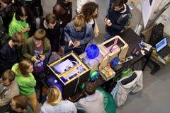 Fab Lab Polytech durante el PolyFest Fotos de archivo libres de regalías