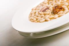 Fabada asturiana. White beans whit pork. Spanish food Stock Photo
