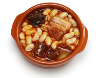 Fabada asturiana, spanish white bean stew Royalty Free Stock Photography