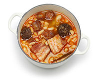 Fabada asturiana, spanish white bean stew Royalty Free Stock Photos