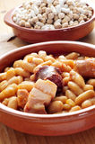 Fabada asturiana, typical spanish bean stew Stock Photo