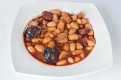 Fabada stew arkivfoto