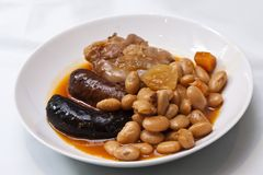 Fabada typical spanish meal Stock Photos