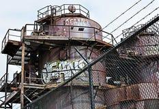 Fabbrica abbandonata Fotografie Stock