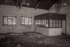 Fabbrica abbandonata ufficio Fotografia Stock Libera da Diritti