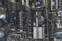 Fabbrica abbandonata urbana fotografia stock libera da diritti