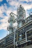 Fabbrica chimica producendo gomma sintetica Fotografia Stock Libera da Diritti