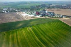 Fabbrica del biogas Fotografie Stock Libere da Diritti